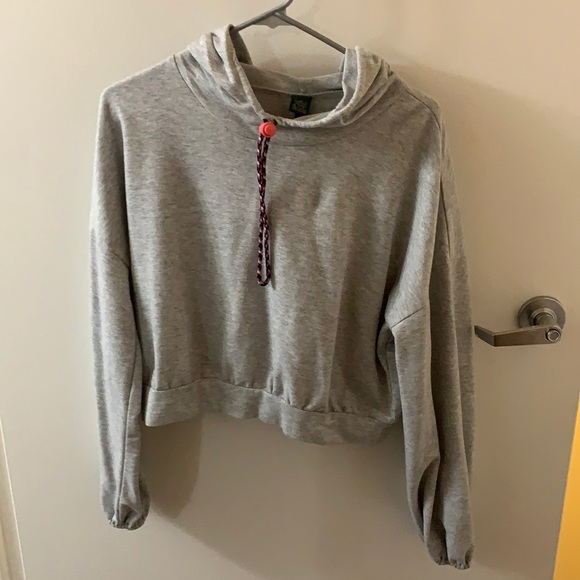 Wild fable cropped grey hoodie